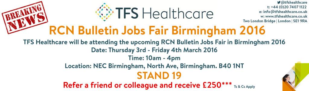 RCN Bulletin Jobs Fair Birmingham 2016
